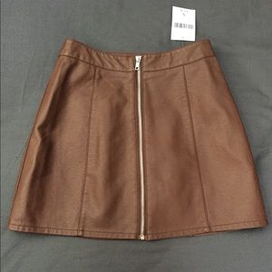 e7fc3519a Women Brown Leather Skirt Outfit on Poshmark
